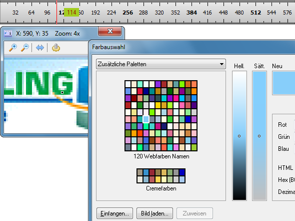 Screenshot vom Programm: Keseling ScreenLineal